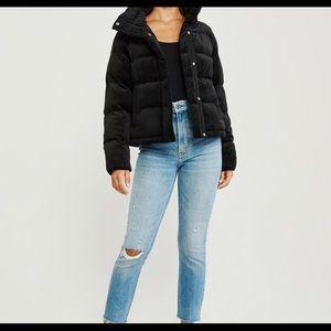 Mini Velvet puffer jacket